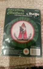 Gallery of Stitches by Bucilla Christmas Counted Cross-Stitch Santa Hoop Ruffle