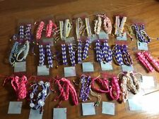 20  Colorful Braid Friendship Cords Strands Bracelets Beads New on Package