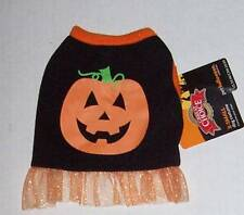 Halloween Pumpkin Dog Dress Costume Size XS NWT Tulle Tutu