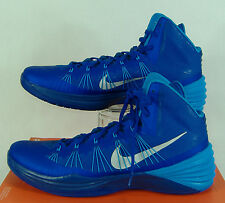 "New Mens 18 NIKE ""Hyperdunk 2013 TB"" Game Blue High Top Basketball Shoes $140"