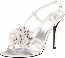 NIB Stuart Weitzman Senorita Mercury Satin Leather High Heel Sandal Bridal Shoe7