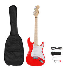 Glarry ST Basswood Red Electric Guitar with Case & Accessories for Beginner