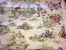 """5th Avenue for Covington Drapery Fabric French Country Toile 1 1/6 Yds x 56"""" W"""