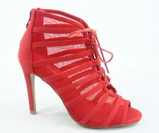 Women's Fashion Strappy Open Toe Gladiator Stiletto Heel Booties Shoes Size 5-10