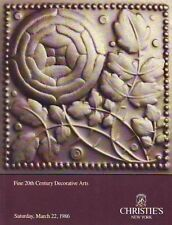 Christie's 6102 Fine 20th Century Decorative Arts Auction Catalog 1986