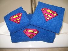 Embroidered Personalised Superman 3 Piece Embroidered Bath Towel Set