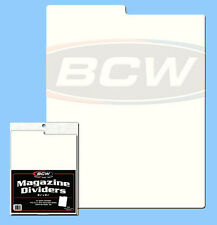 BCW: Tabbed Box Dividers: MAGAZINE SIZE: 28-mil Poly /  50 count *FREE SH in USA
