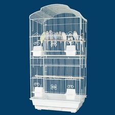 Large Tall Canary Parakeet Cockatiel LoveBird Finch Bird Cage WHT 1703H-690