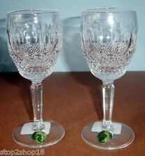 Waterford Crystal Colleen Tall Stem White Wine Glasses Pair (2) 6051370700 New
