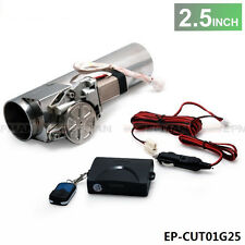 "2.5"" Type Electric Exhaust Catback Downpipe E-Cutout Valve System Remote Kit"