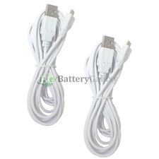 2 White Micro 10FT USB Travel Battery Charger Data Cable For Android Cell Phone