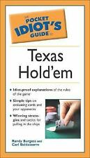 The Pocket Idiot's Guide to Texas Hold'em Burgess, Randy, Baldassarre, Carl Pap