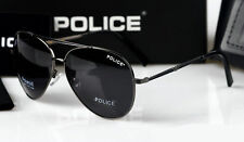 2016 Pure  Men's  Police Sunglasses Driving Glasses Gray frame Black lenses