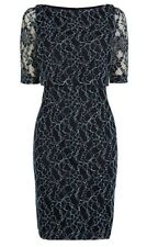 Beautiful *COAST* Mia Lace Dress , Navy ( size Uk 12 ) bnwt