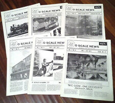 Full Year 1977 O Scale News Magazines Vol. 7 -  1 to 6