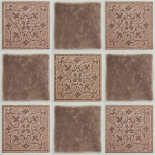 "Peel and Stick Terracotta 4""x4"" Vinyl Wall Tiles 3 Square Feet Kitchen and Bath"