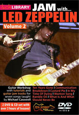Lick Library JAM WITH LED ZEPPELIN Jimmy Page Style Guitar Video Lesson 2 DVD+CD
