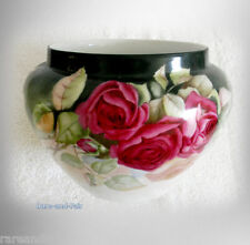 Bawo and Dotter Limoges hand painted roses Jardiniere - circa 1900