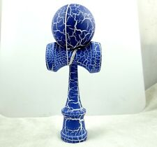 Beautiful Blue on White Kendama All-Over Crackle Pattern matt paint P_4