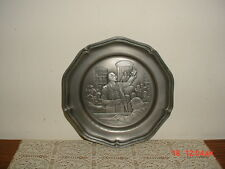 """COMMEMORATIVE """"PATRICK HENRY"""" PEWTER PLATE/1776-1976/AMERICAN BICENTENNIAL/#3384"""