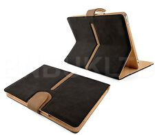 luxury Rotatif De 360 MARRON Smart daim Cuir étui coque pour apple ipad 2/3 & 4