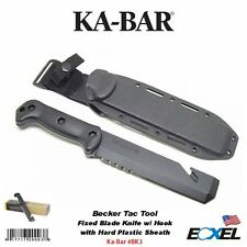 KA-BAR #BK3 Becker Tac Tool Fixed Blade Knife w/ Hook & Hard Sheath, Hvy Duty