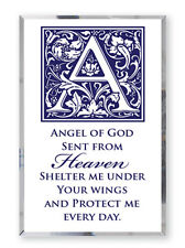 ANGEL OF GOD PRAYER GLASS MIRROR PLAQUE RELIGIOUS INSPIRATIONAL ITEMS ARE LISTED
