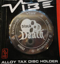 Vibe Audio Black Death Logo Magnetic Alloy Car Tax Disc Holder *Limited Edition*
