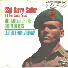 SSgt. BARRY SADLER--PICTURE SLEEVE ONLY--(BALLAD OF THE GREEN BERETS)--PS--PIC--