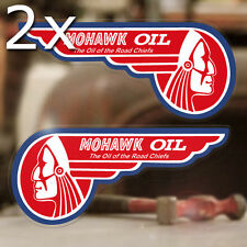 """2x pieces Mohawk Road Chief Oil sticker decal hot rod old school left right 5.5"""""""