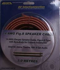 5m 14 AWG Gauge Figure 8 Speaker cable 0.12mm wires