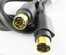 1pc 5FT Gold S-Video Mini Din 4 Pin Male to Male Dual Male Cable For DVD HDTV