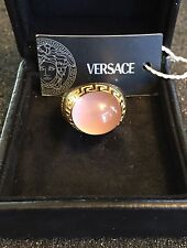 Genuine Versace Rose Quartz Ring, 18kt  MIB