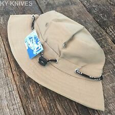 Bucket Hat Boonie Basic Hunting Fishing Outdoor Summer Cap Unisex HT-861 TAN -S