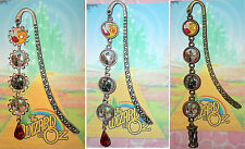 The WIZARD Of OZ Bookmark Book Mark Pendant Disney Wicked Witch Ruby Slippers