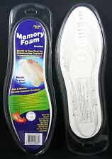 2 Memory Foam Shoe Insoles Unisex Insert Comfort Pads Foot Cushion Size Chart