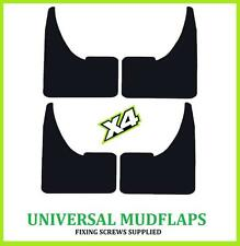 UNIVERSAL Car BLANK Rubber Black MUDFLAPS Mud Flaps SET of 4