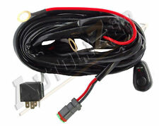 Off Road LED LIGHT Bar On-Off Power Switch 40 Amp Relay Wiring Harness - 1 Lamp