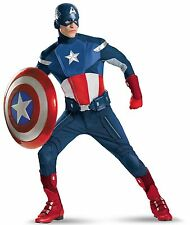 The Avengers Captain America Theatrical Adult Costume Size 50-52 Brand New