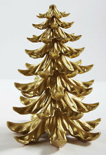 """GOLD 9"""" Tabletop Christmas Tree Glittering Holiday Table Decoration, Beautiful"""