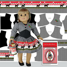 18 in Doll Clothes Kit Scotties Holiday Dress and Jacket for American Girl Dolls