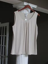Chico's Travelers Champagne Liquid Shimmer Tank Top Shell Size 3 (16-18) NWT $59