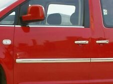 VW CADDY MK III MAXI 01- CHROME SIDE DOOR COVERS TRIM Set STRIP Tuning