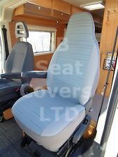 TO FIT A MERCEDES SPRINTER MOTORHOME, 2005, SEAT COVERS, REGGIE BLUE, 2 FRONTS