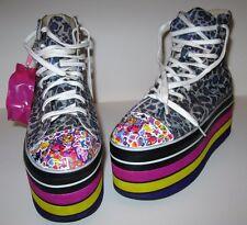 Lisa Frank Inspired 90's Style Leopard Platform Sneakers Rainbow 8 Spice Girls