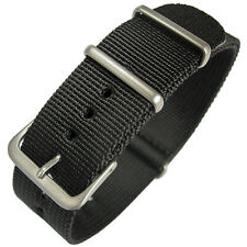 18mm Hadley-Roma MS4210 Mens Black Nylon MoD G10 Military Watch Band Strap