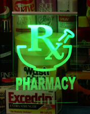 Pharmacy LED Sign RGB Changable Color Remote Switch