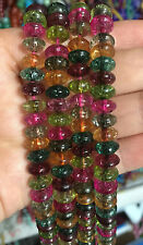 5x8mm Multicolor Tourmaline Gemstones Abacus Loose Beads Jewelry 15""
