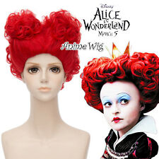 Halloween Red Queen Bloody Mary 30CM Alice in Wonderland 2 Cosplay Wig + 2 Bun