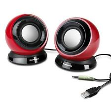 Original LENOVO M0520 Portable Computer Speaker System USB POWERED Red Sealed